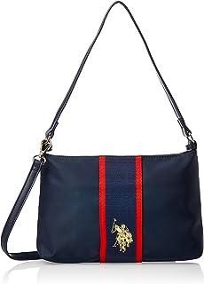 US Polo Womens Clutch Crossbody Bag, Navy - BIUPW0636WIP212