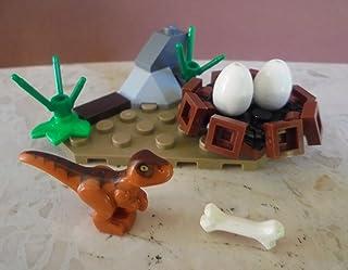 Jurassic World Lego Raptor Baby con Dinosaurios Nido