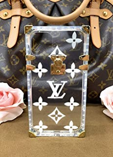 iPhone Case 11 Pro Elegant Luxury Square Trunk Style Clear Graphic Fashion Designer Compatible with Apple iPhone 11 Pro (White Print)