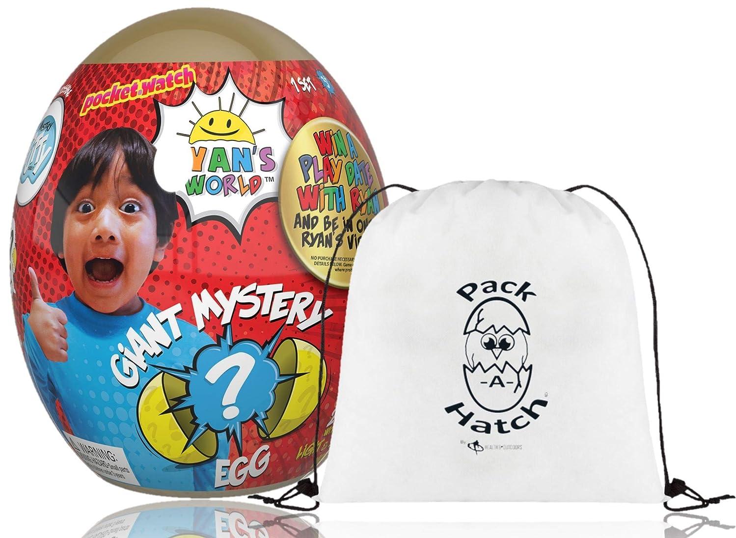 Ryan's World Gold Egg W/ Pack A Hatch