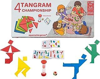Aquamarine Games- 4 Tangram Championship, Multicolor (CP039