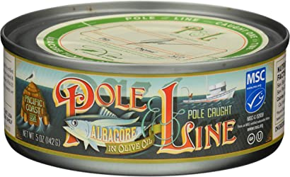 Pole And Line, Tuna Albacore In Olive Oil, 5 Ounce