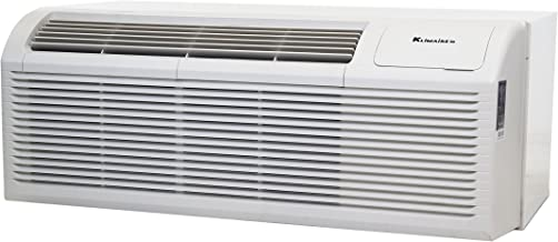 15,000 Btu Klimaire PTAC Packaged Terminal Air Conditioner - 5kW Backup Heater - Outdoor Grille - Sleeve - Free drain Kit - 220V
