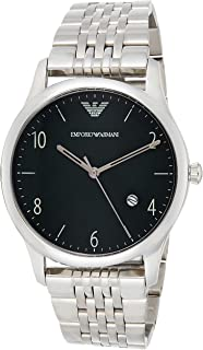Emporio Armani Mens Quartz Watch, Analog Display and Stainless Steel Strap AR1943