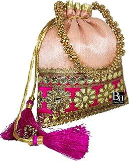 Bombay Haat Ethnische Indische Potli Tasche Hochzeit Geldbörse Abendtasche Clutch Geldbörse für Frauen für Hochzeit Party ...
