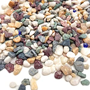UAIAH Natural Decorative Pebbles Polished Gravel Mixed Color Chips Stone for Plants Décor Garden Landscape Ornaments Decoration