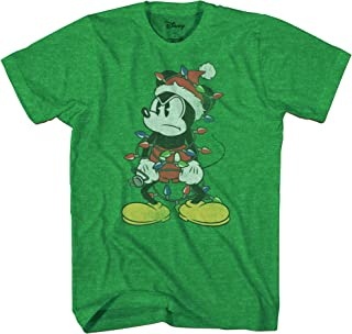 Mickey Mouse Christmas Lights Adult T-Shirt