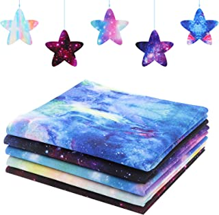 Xgood 20 Pieces Cotton Craft Fabrics Star Galaxies Themed Fabrics Square Fabrics for Clothing Sewing and DIY Art Crafts (2...