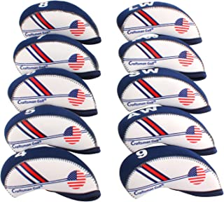Craftsman Golf White & Blue US Flag Neoprene Golf Club Head Cover Wedge Iron..
