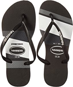 Slim Logo Stripes Flip Flops