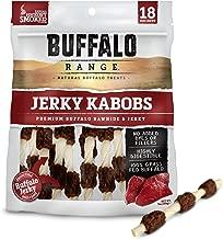 Buffalo Range Rawhide Dog Treats   Healthy, Grass-Fed Buffalo Jerky Raw Hide Chews   Hickory Smoked Flavor   Jerky Kabob