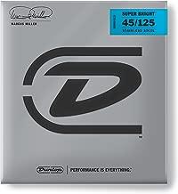 Dunlop DBMMS45125 Marcus Miller Super Bright Bass Strings, Medium 5-String, .045–.125, 5 Strings/Set
