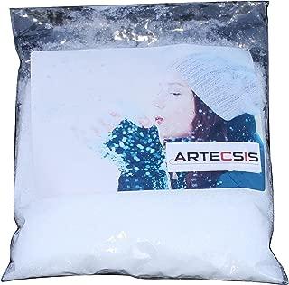 ARTECSIS Nieve Decorativa Artificial, 1 litro De Nieve Falsa para Decoración Navideña, Fabricación De Modelos, Escaparate, Decoración Y Bricolaje.
