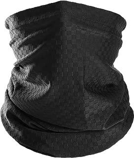 Chuangdi Summer Face Mask UV Protection Neck Gaiter Bandana Balaclava for Outdoors Wear (Black, 1 Piece)