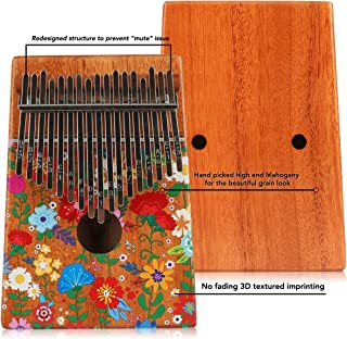 $48 Get VI VICTORY 17 Key Colorful Kalimba African Thumb Piano Finger Percussion Keyboard Music Instruments - Carnation