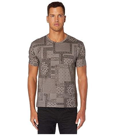 John Varvatos Collection Regular Fit Bandana Print T-Shirt K3178V3 (Flagstone Grey) Men