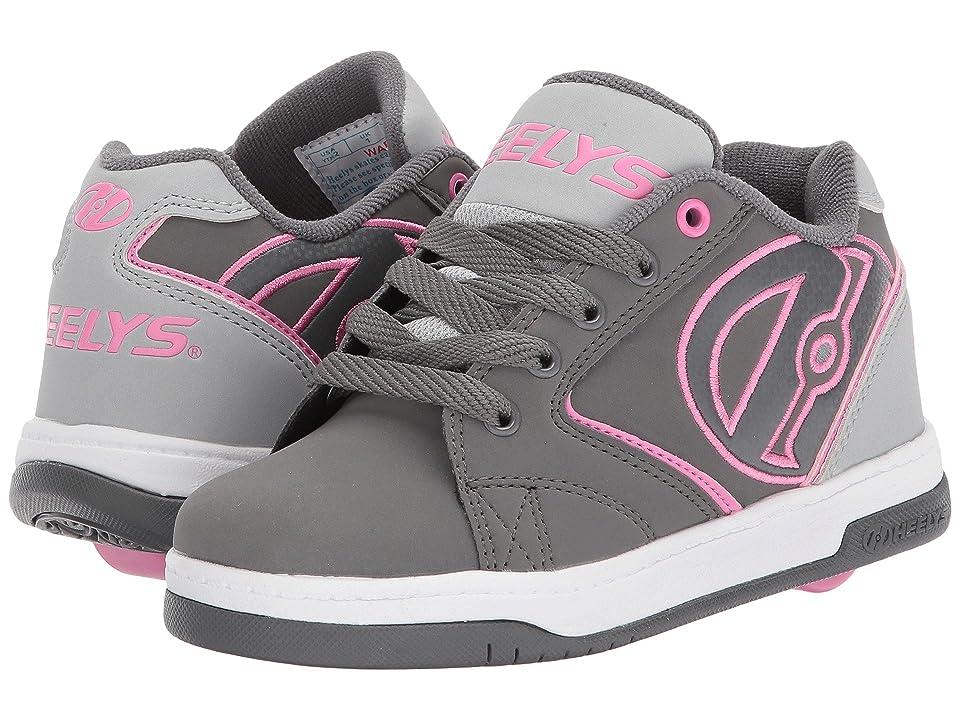 Heelys Propel 2.0 (Little Kid/Big Kid/Adult) (Charcoal/Grey/Pink) Kids Shoes