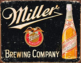 Desperate Enterprises Miller Brewing Company Vintage Tin Sign, 16