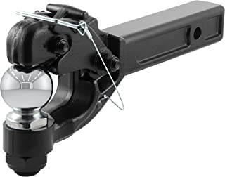 CURT 48006 Pintle Hitch with 2-5/16-Inch Trailer Ball Black Fits 2-Inch Receiver 16,000 lbs, 15-1/4-Inch Length