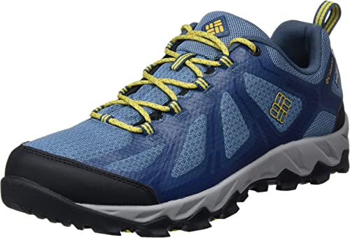Columbia Homme Chaussures Multisport, Imperméable, PEAKFREAK XCRSN II XCEL Faible OUTDRY, Taille 47, Bleu (Steel, Antique Moss)