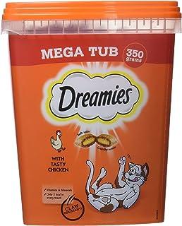 Dreamies -Golosinas para gatos, sabor: Pollo MegaTub, 350 g (Pack of 2)
