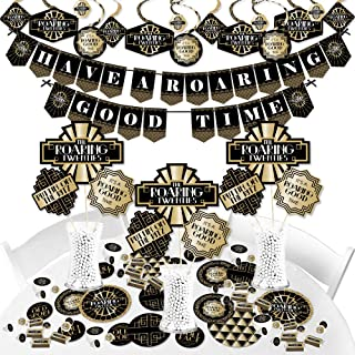 Big Dot of Happiness Roaring 20's - 1920s Art Deco Jazz Party Supplies - Banner Decoration Kit - 2020 New Year's Eve Party - Fundle Bundle
