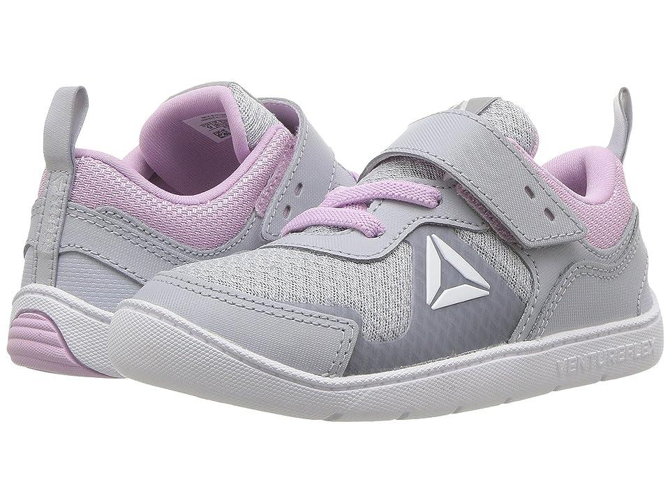 Reebok Kids Ventureflex Stride 5.0 (Toddler) (Cloud Grey/Moonglow/White) Girls Shoes