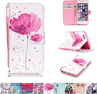iPhone 6 Plus / 6S Plus Case, Firefish [Kickstand] [Shock Proof] Double Protective Case Flip Folio Slim Magnetic Cover with Wrist Strap for Apple iPhone 6 Plus / 6S Plus 5.5