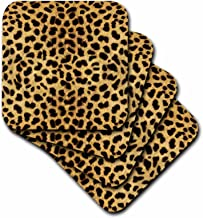 3dRose Janna Salak Designs Cheetah Animal Print Coaster, Soft, Set of 4