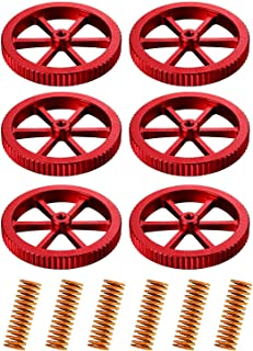 SNOWINSPRING Aluminum Hand Twist Leveling Nut and Hot Bed Die Springs Printer Compression Springs Compatible (12 Pieces)