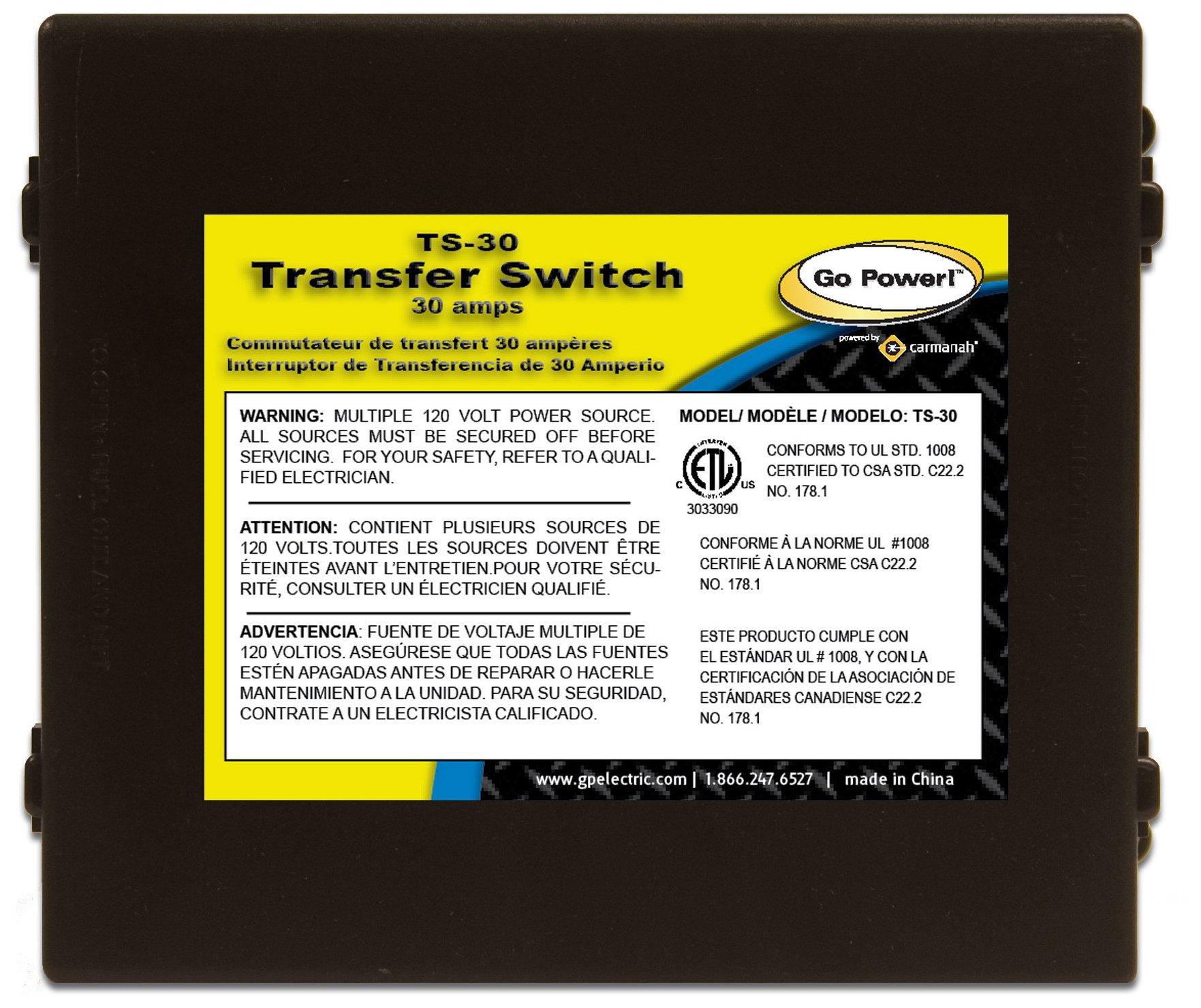 Go Power TS 30 Automatic Transfer