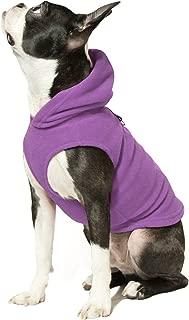 Gooby - Fleece Vest Hoodie, Small Dog Pull Over Hooded Fleece Jacket with Leash Ring
