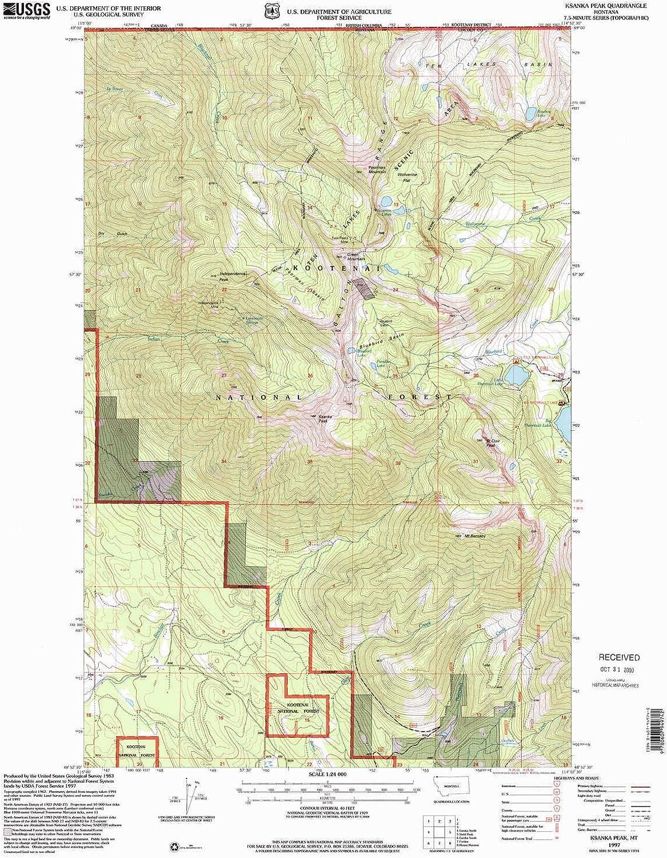 Ksanka Peak MT topo map, 1 24000 Scale, 7.5 X 7.5 Minute, Historical, 1997, Updated 2000, 27.2 x 22.2 in