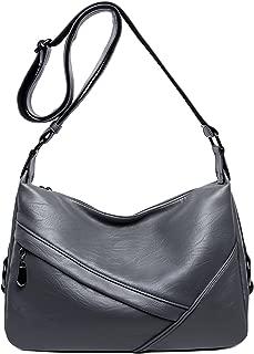 Women's Retro Sling Shoulder Bag from Covelin, Leather Crossbody Tote Handbag
