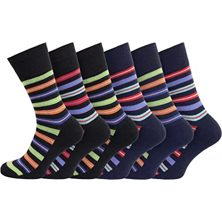 Mens Non Elastic Diabetic Friendly Socks 6-11 Soft Cotton Rich Wide Top Grip Smooth Seam Toe Easytop™ Cushioned Sole