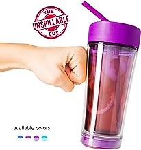 Mighty Mug Vortex Tumbler, The Travel Mug That WonÕt Fall, with Double Wall Insulation and Convenient Flex Straw, Purple, 20 oz