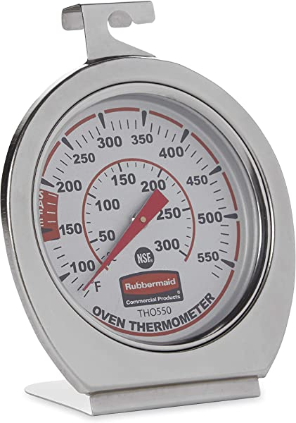Rubbermaid Commercial Products Stainless Steel Instant Read Oven Grill Smoker Monitoring Thermometer