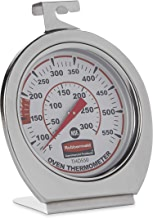 Rubbermaid Commercial Products Stainless Steel Instant Read Oven/Grill/Smoker Monitoring Thermometer, for Kitchen Use (FGTHO550)