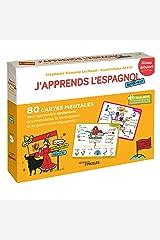 J'apprends l'espagnol autrement - Niveau débutant: 80 cartes mentales pour apprendre facilement la grammaire,la conjugaison et le vocabulaire espagnols ! + 1 livret explicatif Broché