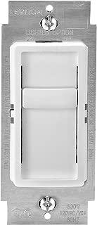 Leviton 6672-1LW SureSlide Universal 150W LED/CFL Incandescent Slide-To-Off Dimmer, White