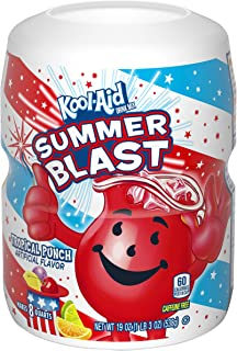 Kool-Aid Sweetened Tropical Punch Powdered Drink Mix, Caffeine Free, 19 oz Jar