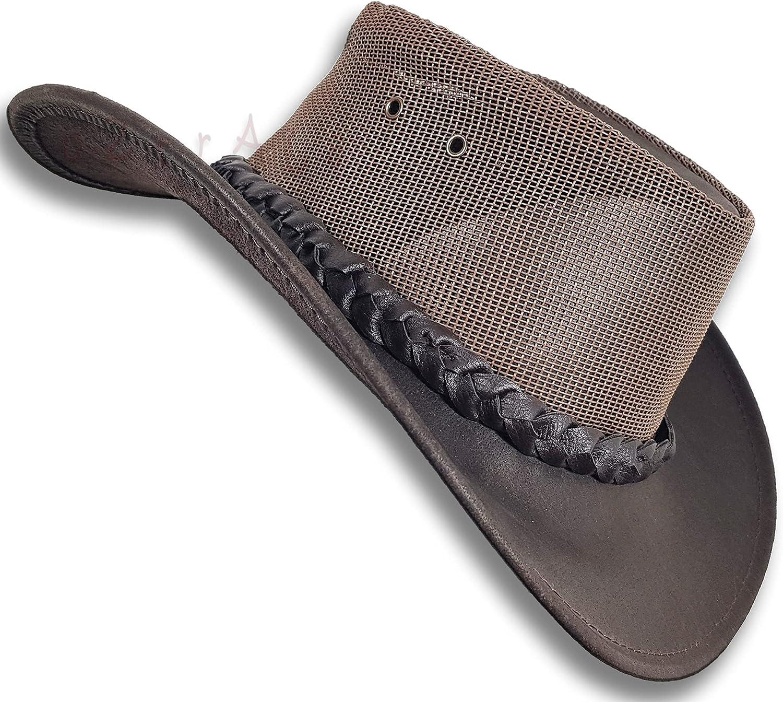 Oztrala Buffalo Leather Weekly update Hat Max 68% OFF Australian C Breezer Western Outback