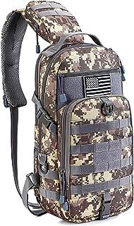 G4Free EDC Bag Tactical Sling Bag Fishing Tackle Molle Chest Shoulder Pack Rectangular Outdoor Daypack