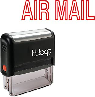 AIR MAIL w/Outline Font Style - Self-Inking Rubber Stamp by bbloop
