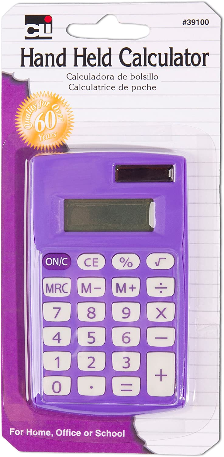 Charles Leonard Hand Held Calculator Solar New mail OFFicial order and Battery Powered