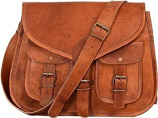 Artishus Vintage Crossbody Handbag for Ipad | Spacious genuine Leather Bag with many pockets | Handmade Travel Satchel Women brown crossbody Purse