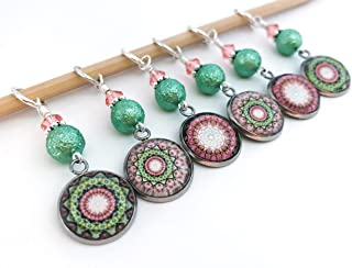 Mandala Stitch Markers for Knitting or Crochet- Gift for Knitters