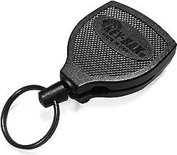 "KEY-BAK SUPER48 Plus HD 8oz. Ambidextrous Retractable Keychain with a 48"" Retractable Cord and Locking Steel Belt Clip, Black"