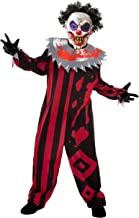 Scary Clown Kids Halloween Costume with Mask for Carnival Clown Horror Costume.