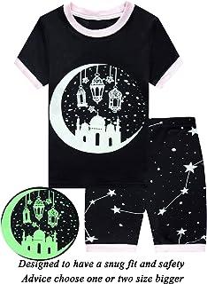 Dolphin&Fish Little Girls Cotton Short Pajamas Summer Kids Clothes Toddler Pjs